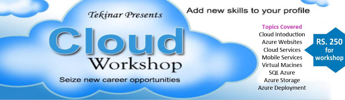 Book Online Tickets for Cloud Workshop, Bengaluru. This half-day workshop shall help you learn Cloud Computing in its practical sense and enable you to start using it in your projects. This will add a new set of technologies to your profile, which will create more career opportunities for you.