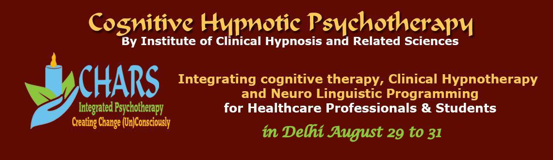 Book Online Tickets for Foundation Course in Cognitive Hypnotic , NewDelhi. Cognitive Hypnotic Psychotherapy is a brief therapy that advocates the need for customizing treatments for each individual and follows a Person-centric solution focused approach. The therapy systematically works with the conscious and unconscious pro