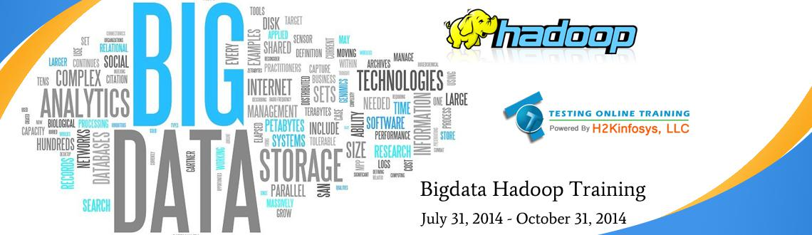 Book Online Tickets for BIG DATA Hadoop Online Training and plac, . The level of Big Data training offered by IT experts in Testing Online Training is advanced and extreme and enables students to learn all real time techniques in the stream of IT field. The focus of the institute lies in making the foundation of its