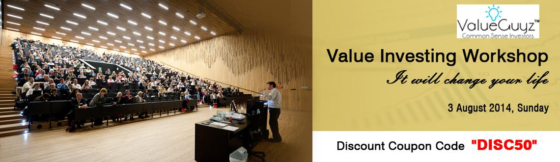 Book Online Tickets for Value Investing Workshop, Gurugram. Value Investing Workshop