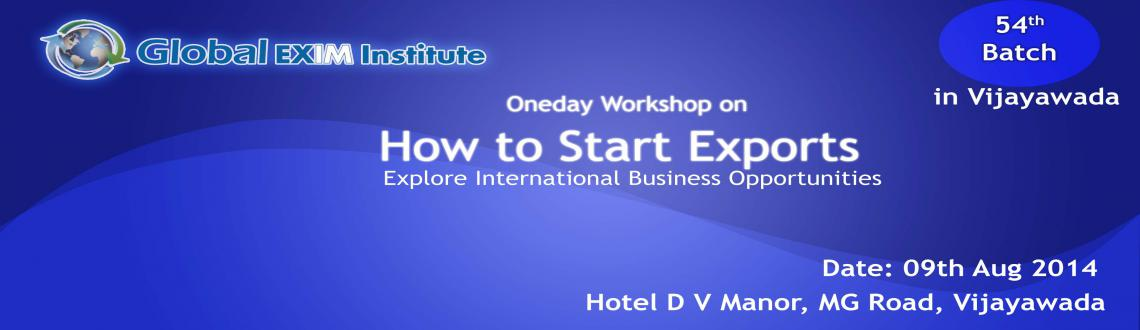 One day workshop in Vijayawada on How to Start Exports  Copy