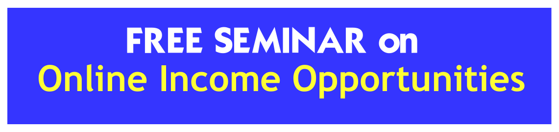 Book Online Tickets for FREE SEMINAR: online Income Opportunitie, Hyderabad. BE YOUR OWN BOSS – LEVERAGE THE INTERNET! ATTEND FREE SEMINAR!!