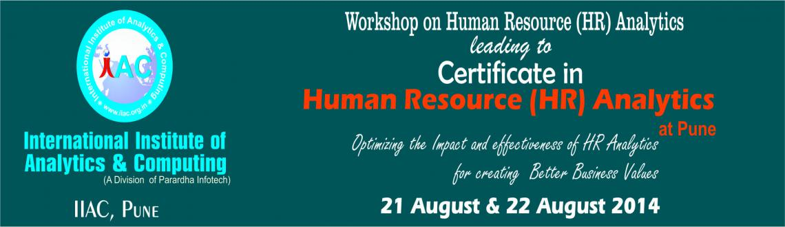 Book Online Tickets for Human Resource (HR) Analytics Workshop a, Pune.    You will Learn how to…      Use Analytics for Data Driven Decision making processes in HR functions       Use of data sciences methodologies and analytical techniques by using organizational data for extrac