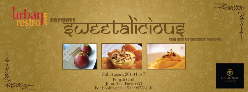 Book Online Tickets for Sweetalicious The Art Of Dessert Making, Mumbai. Learn how to make sweet and delicious Indian desserts at the Sweetalicious workshop conducted by Urbanrestro.com in association with Punjab Grill. Be ready to grasp the tips and tricks to whip that perfect dessert Or getting the right mix of ing