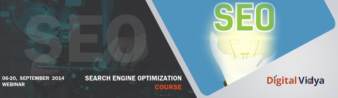 Book Online Tickets for Search Engine Optimization Course Oct 4 , . 