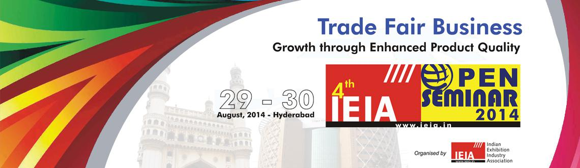 Book Online Tickets for IEIA Open Seminar 2014, Hyderabad. Indian Exhibition Industry Association (IEIA), was registered with the Registrar of Societies, under Societies RegistrationActXXI of 1860 Under No. 55/63 of 2006, in New Delhi.