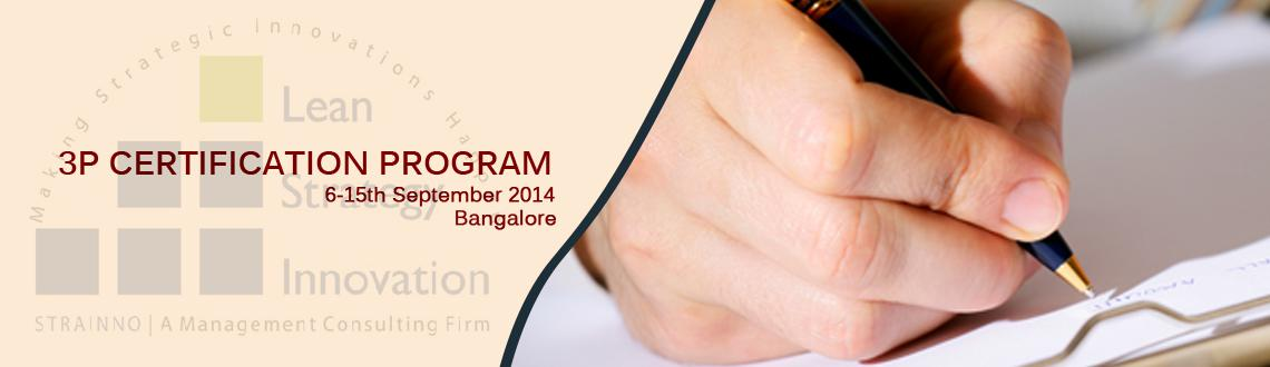 3P Certification Program (WE-Sept-2014)