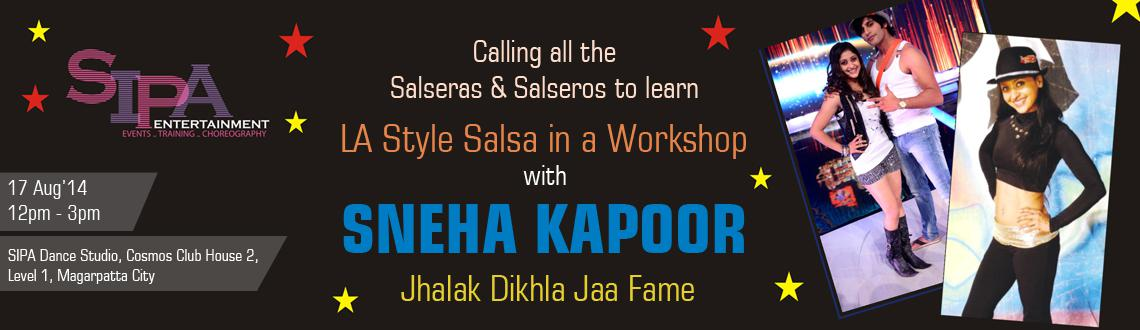LA salsa workshop with Sneha kapoor on 17th august 2014