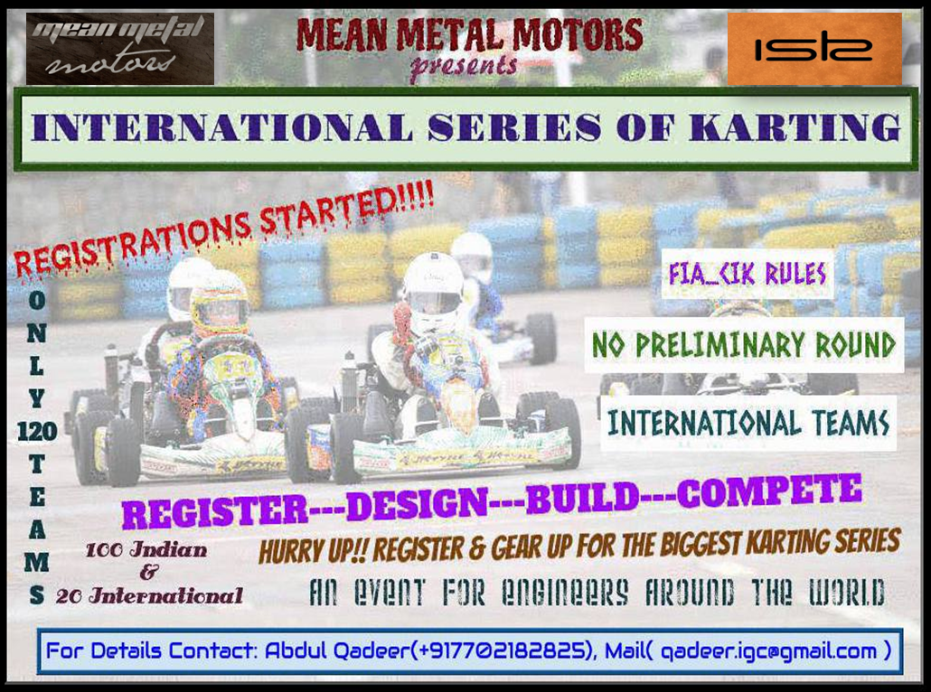 Book Online Tickets for International Series of Karting, Bengaluru.  