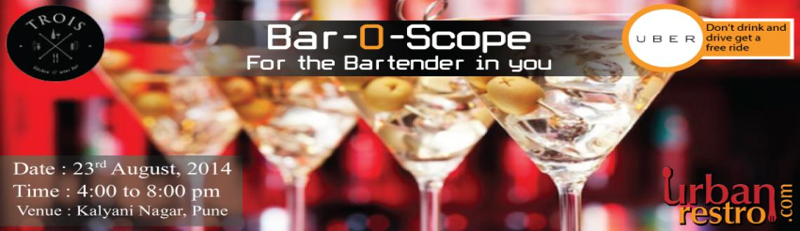 Book Online Tickets for Bar-O-Scope For the Bartender in You, Pune. Urbanrestro.com along with Trois, Pune brings you Bar-O-Scope | For the Bartender in you. If you\\'re looking for a workshop that helps you break into the profession or have been mixing professionally for a while and want to step up your game o