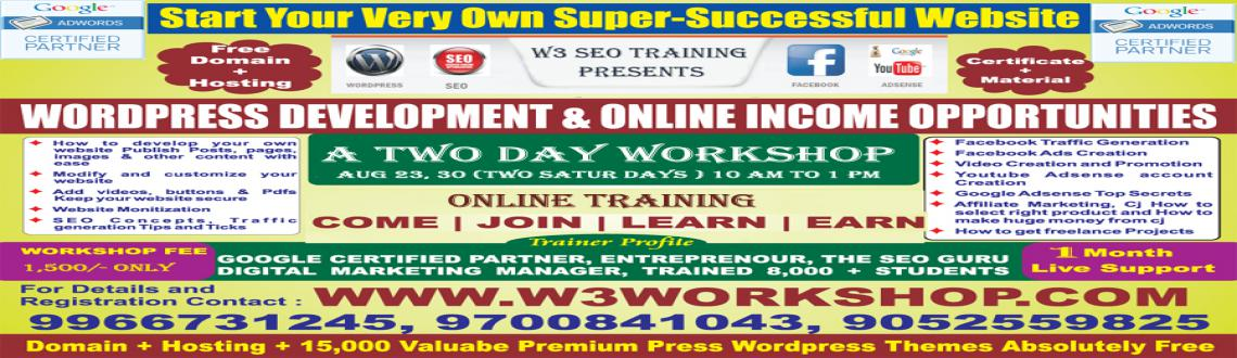 Book Online Tickets for Wordpress Development  Online Income Opp, Hyderabad. 
