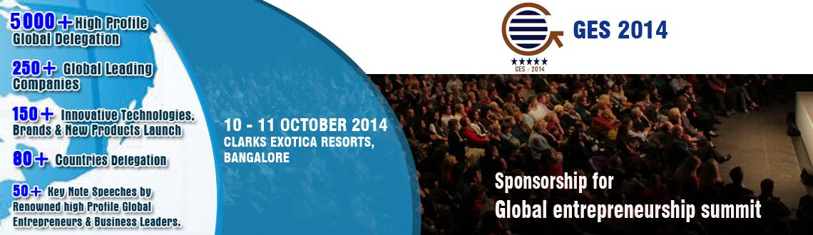 Book Online Tickets for Sponsorship for Global Entrepreneurship , Bengaluru.