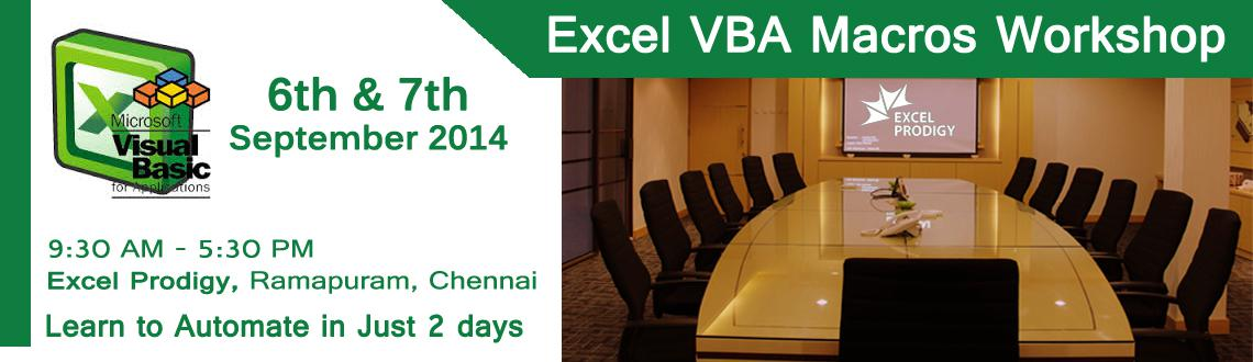 Book Online Tickets for Learn Automation using Excel VBA Macro  , Chennai. Excel VBA Macro Automation in Chennai