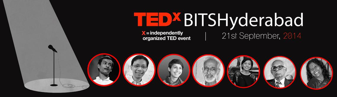 "Book Online Tickets for TEDxBITSHyderabad 2014 | Of The Goodness, Hyderabad. ""Ideas Worth Sharing"". That's what identifies TEDx. Plus sparking conversations and connection through local TED-like experiences.