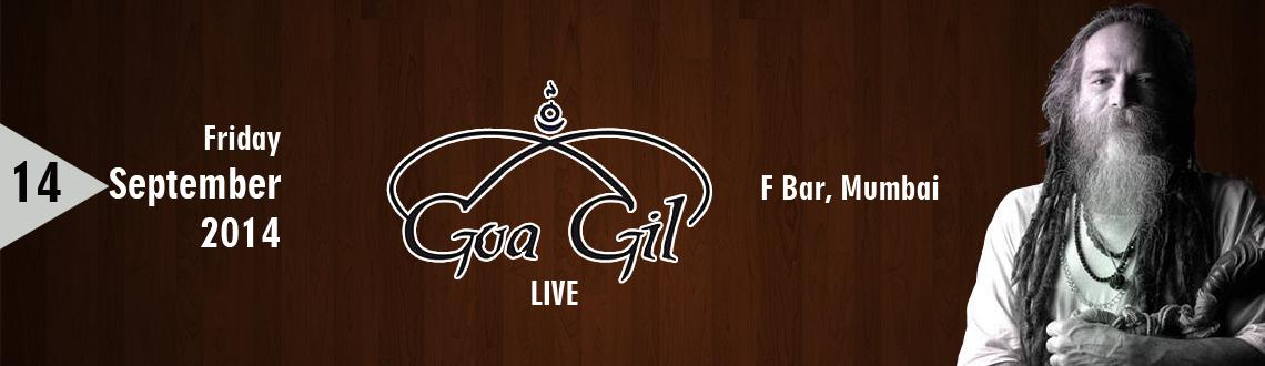 Musical Concert - GOA GIL  Live on 14th Sept. @ F Bar