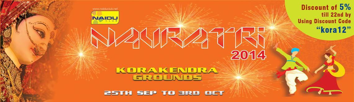Book Online Tickets for Kora Kendra Navratri 2014, Mumbai. Kora Kendra Navratri 2014  Kora Kendraand the organisers celebrating the10thyear of Navratri in 2014, considered as the most successful event of Mumbai. Participants from all over Mumbai come and play Garba and Dandiya in t