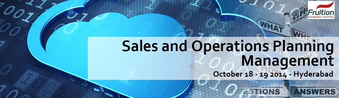 Workshop on Sales and Operations  Planning Management