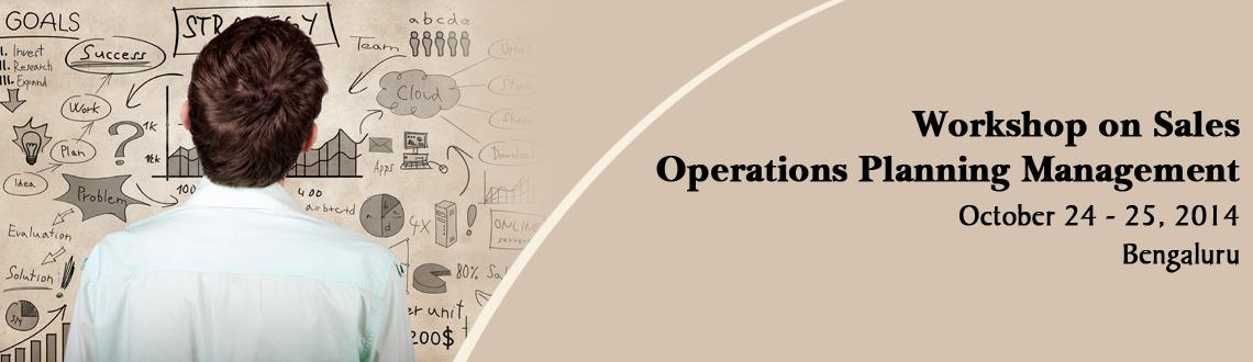 Book Online Tickets for Workshop on Sales and Operations  Planni, Bengaluru. Leaders and managers of organizations face coordination issues in understanding business from business process point of view, supply chain point of view, and strategy execution point of view. It shows that the coordination at senior leadership and mi