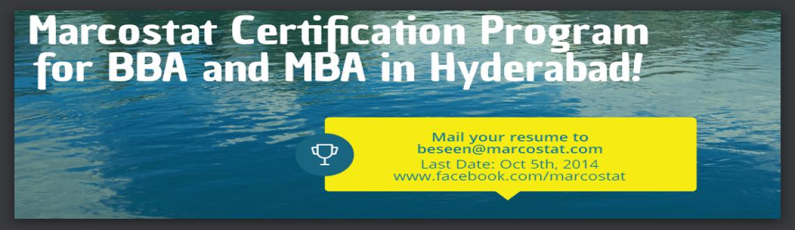 Book Online Tickets for Marcostat Certification Program for BBA,, Hyderabad.