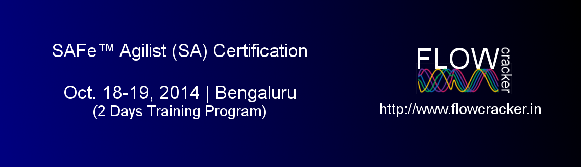 Book Online Tickets for SAFe Agilist (SA)  Certification, Bengal, Bengaluru. 