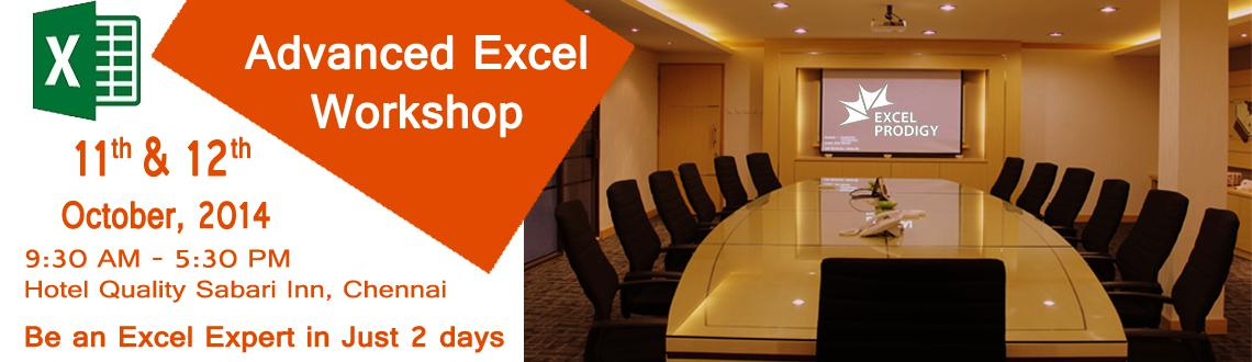 Exclusive Advanced Excel Weekend Workshop in Chennai
