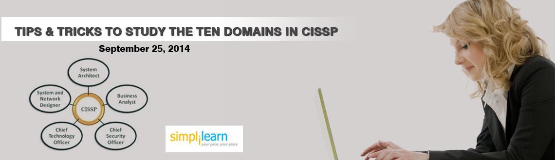 Simplilearns Online Free Webinar Kolkata  Tips  Tricks to study ten Domains in CISSP