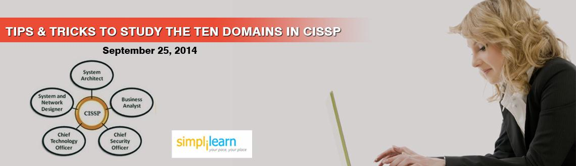 Simplilearns Online Free Webinar Lucknow  Tips  Tricks to study ten Domains in CISSP