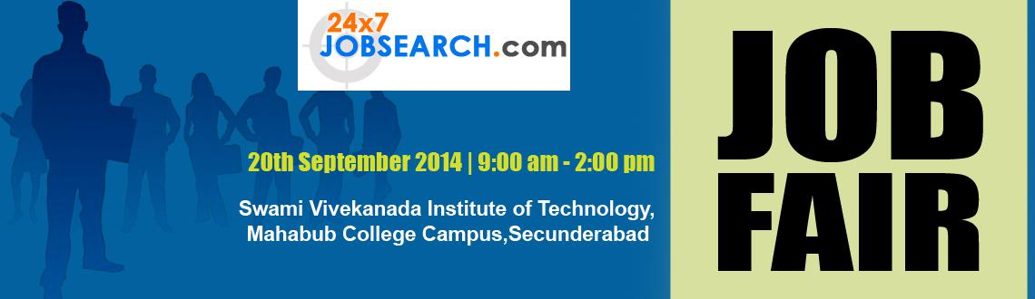JOB FAIR ON 20th September 2014 @ SVIT Engineering College, Secunderabad / Hyderabad