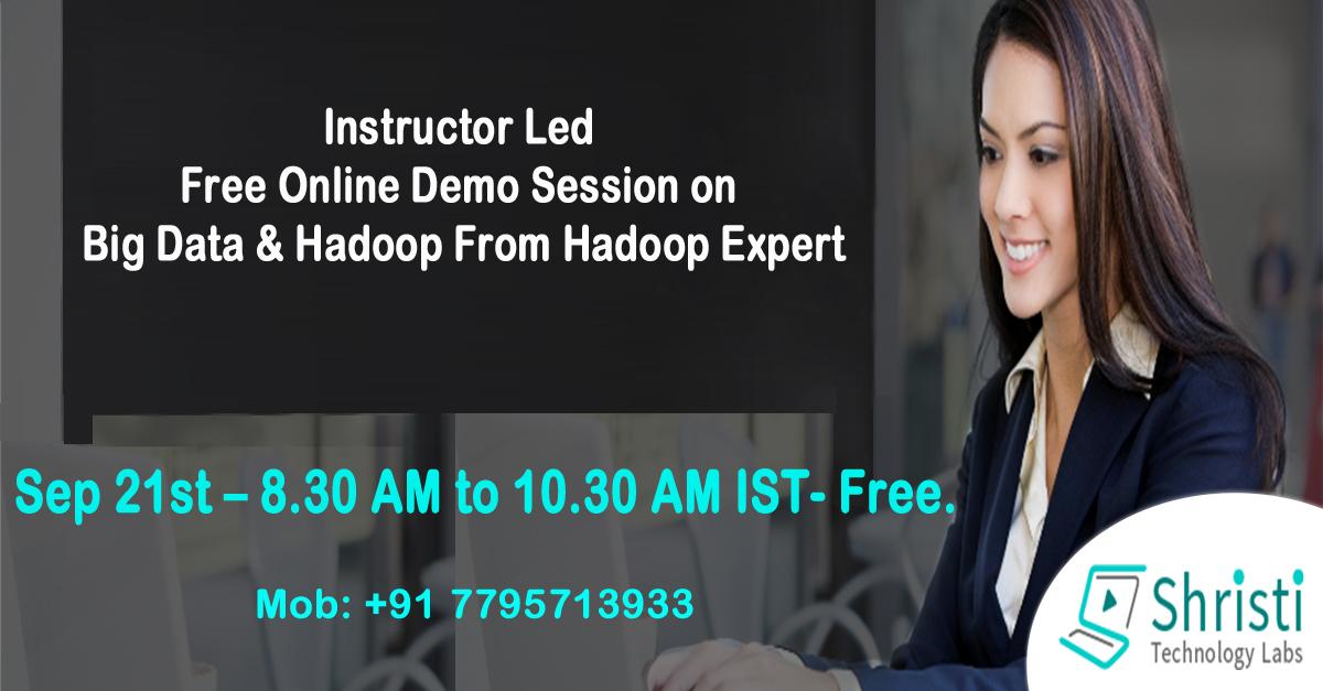 FREE HADOOP ONLINE DEMO SESSIONS ON BIG DATA  HADOOP