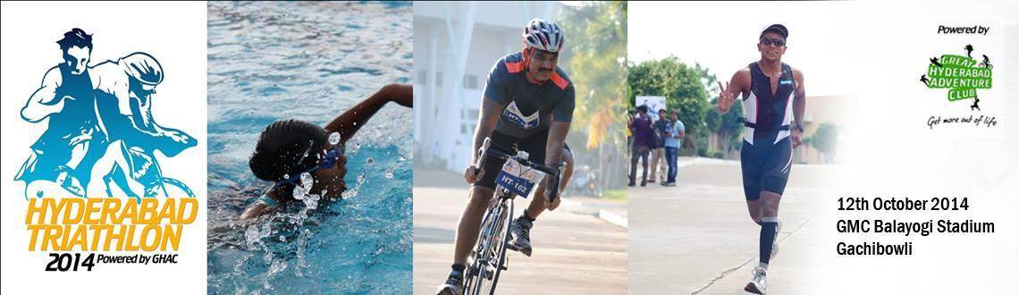 Book Online Tickets for Hyderabad Triathlon 2014, Hyderabad.   GHAC Presents Hyderabad Triathlon on the Sun 12 Oct 2014 at Gachibowli Stadium  Announcing the Hyderabad Triathlon and Duathlon. After successfully completion of the Hyderabad triathlon in 2013, Great Hyderabad Adventure Club (GHAC) is se