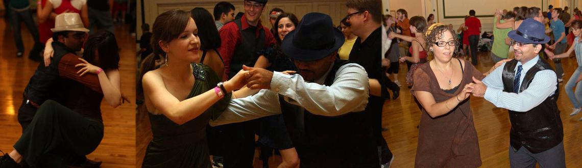 First time an evening of social dancing for LindyHop (east coast swing dance)