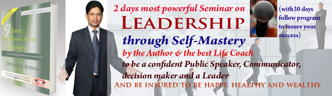 Book Online Tickets for 2 Days Seminar on Leadership through Sel, Hyderabad. Greetings from Life Management Academy!