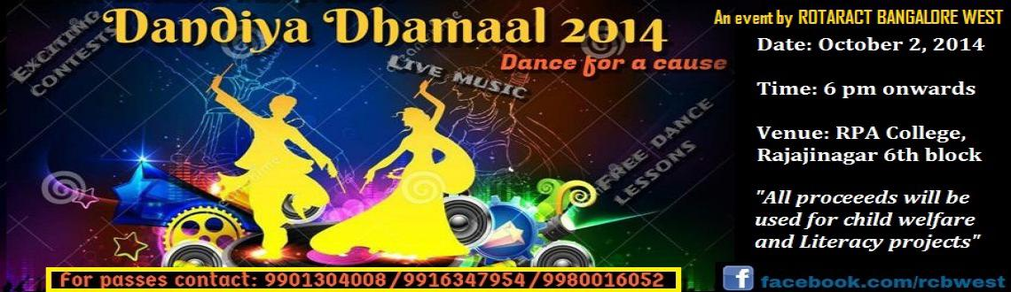 Book Online Tickets for Dandiya Dhamaal, Bengaluru. Greetings fromRotaract Bangalore West   In the name of Goddess Durga and in light of the blessing of Goddess Durga. We take pleasure of inviting you for the immense celebration of togetherness, happiness and joy of colors. Come experience t
