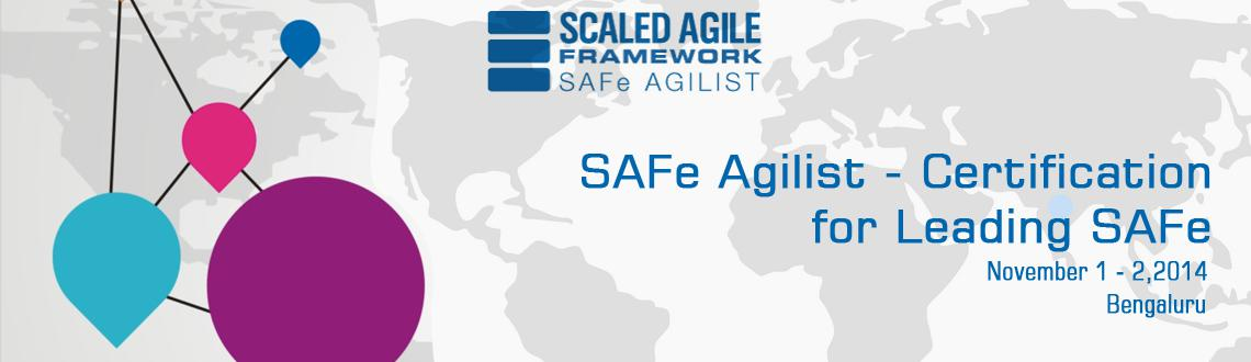 Book Online Tickets for SAFe Agilist - Certification for Leading, Bengaluru. Please contact Rajkumar +91 9049118527 for any more information required  Seeking an Agile solution for a larger software enterprise? Scaled Agile Academy training is based on theScaled Agile Framework™. SAFe is a proven, codifie