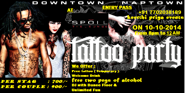 tattoo party in hyderabad
