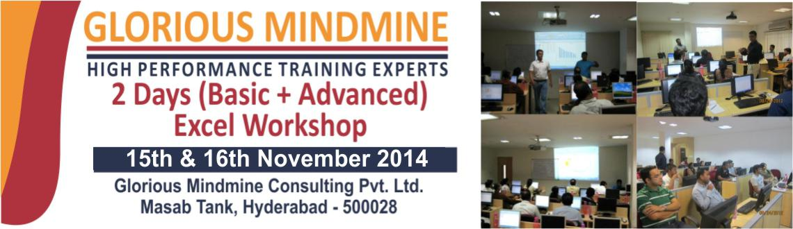 Book Online Tickets for 2 Days Basic + Advanced Excel Workshop, Hyderabad. 