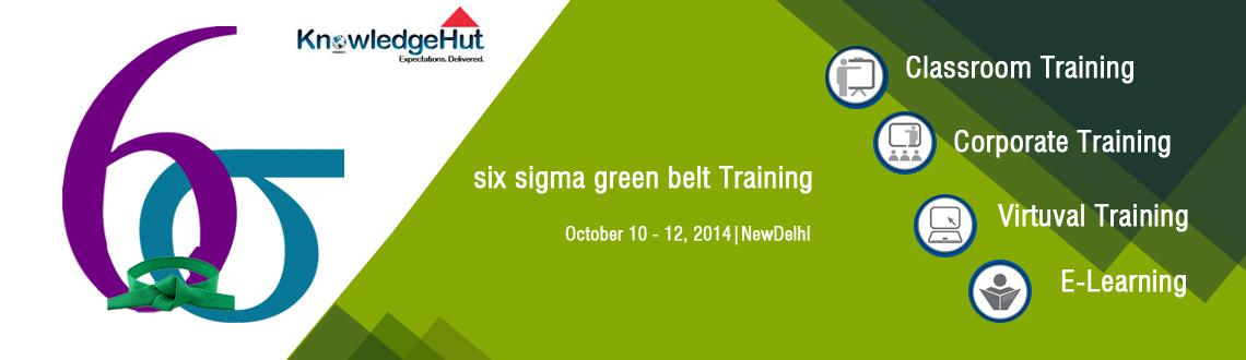 Book Online Tickets for six sigma green belt Training in Chennai, Chennai. Six Sigma Green Belt Certification Training