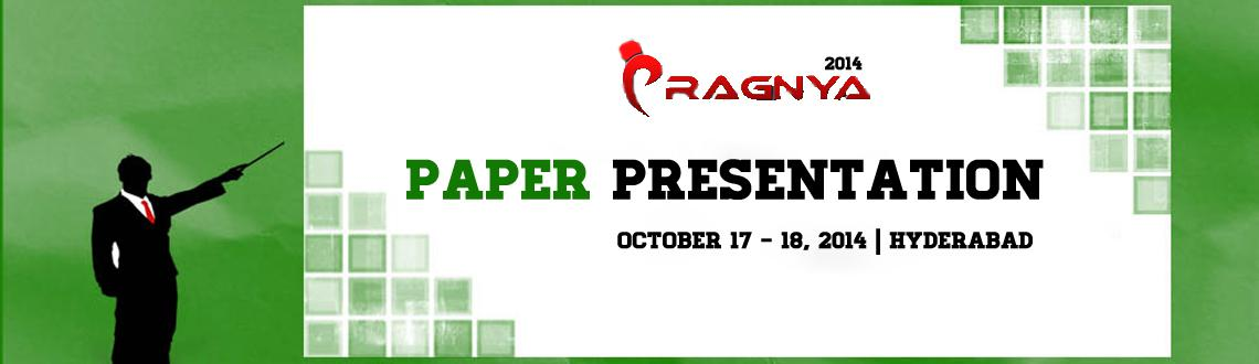 Book Online Tickets for Paper Presentation -Pragnya 14 @Griet, Hyderabad. Paper Presentation: