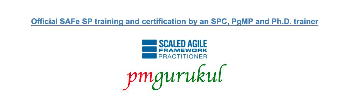 SAFe Practitioner (SP) Certification Program in Pune