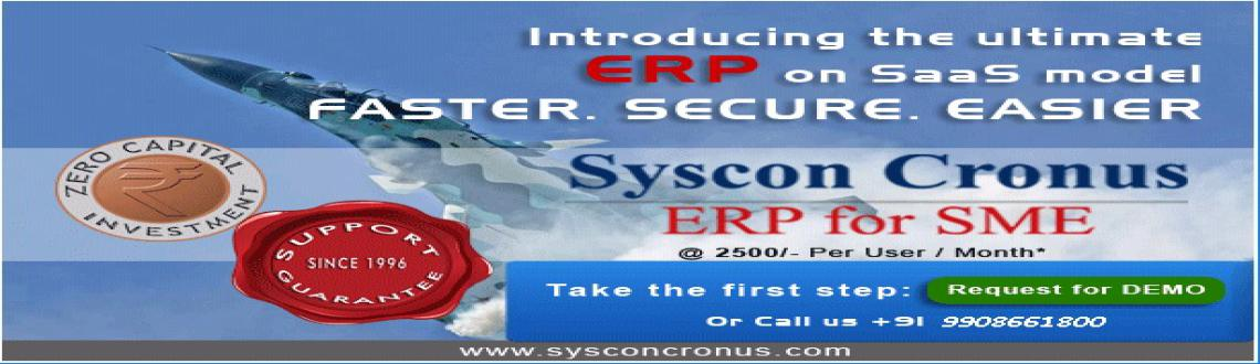 Book Online Tickets for ERP Demo, . Syscon Solutions provides ERP for SMEs.We provide integrated & cost effective ERP, Exclusively for Manufacturing and Trading companies.