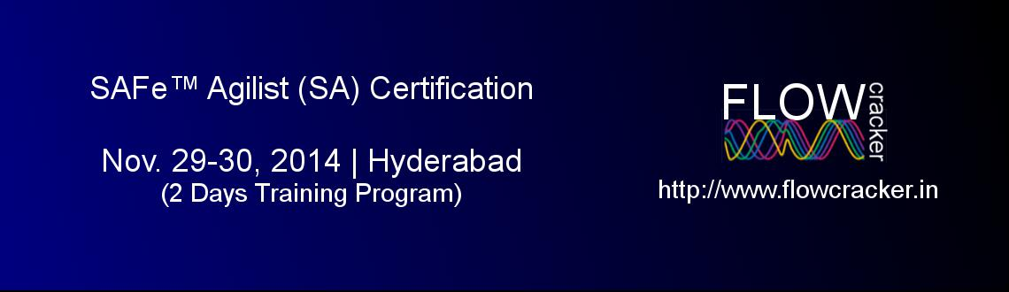 SAFe Agilist (SA)  Certification, Hyderabad