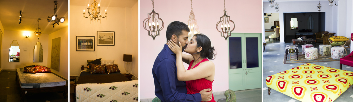 Love Hangover- Couple Makeover Photoshoot at Beautiful Haveli Delhi