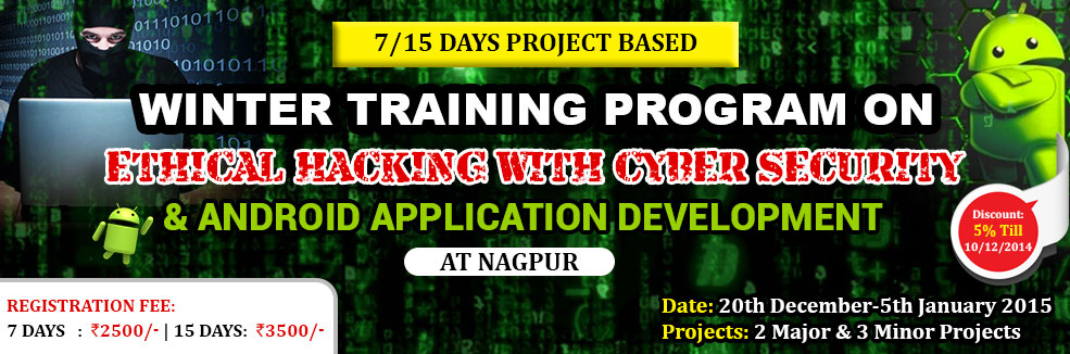 Book Online Tickets for 7/15 Days Project Based Winter Training , Nagpur. Greetings from Azure Skynet !!!
