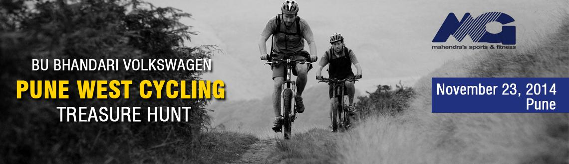 Book Online Tickets for BU BHANDARI VOLKSWAGEN PUNE WEST CYCLING, Pune. Announcing \\\'BU BHANDARI VOLKSWAGEN PUNE WEST CYCLING TREASURE HUNT\\\' organised by MGs & PYC Gymkhana on Sunday the 23rd November 2014 at 6 am. There will be two separate events (1) team of 3 males only (2) other event is minimum 1 female in