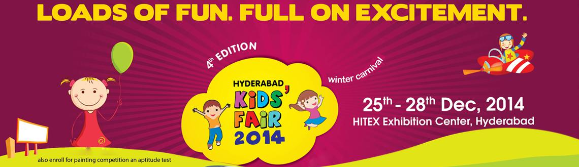 Book Online Tickets for Kids Fair 2014 Indias Biggest Kids Carni, Hyderabad. India\\\'s Biggest Kid\\\'s Carnival ReturnsHyderabad Kids\\\' Fair is a 4-day fest that makes children bounce off the walls. After the tremendous success of the last edition held in November, which attracted around 30,000 visitors and 90 exhibitors,