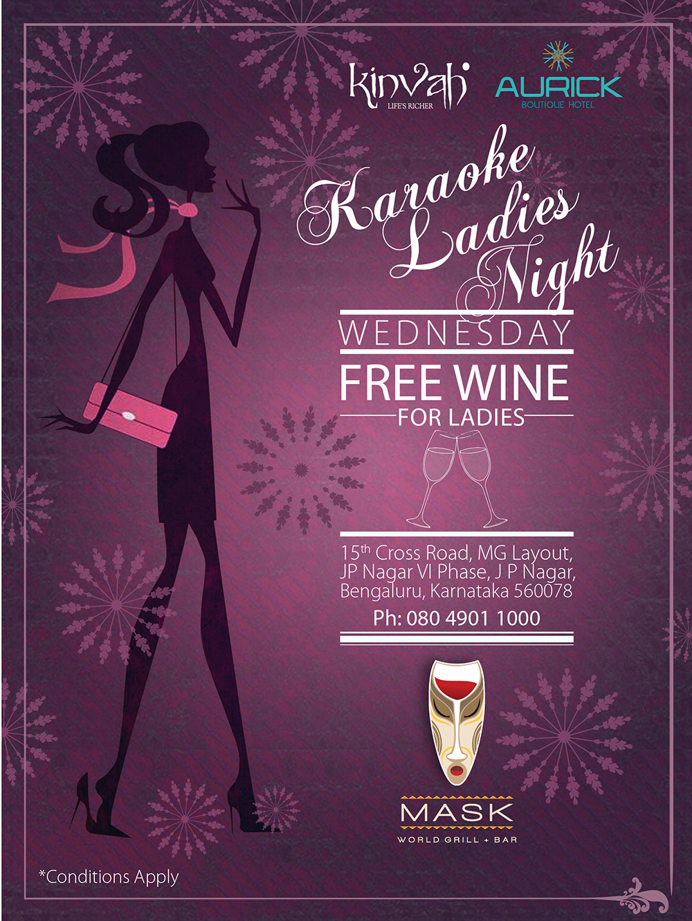 Ladies Night/ Karaoke Night. Gang Up And Come along with your friends