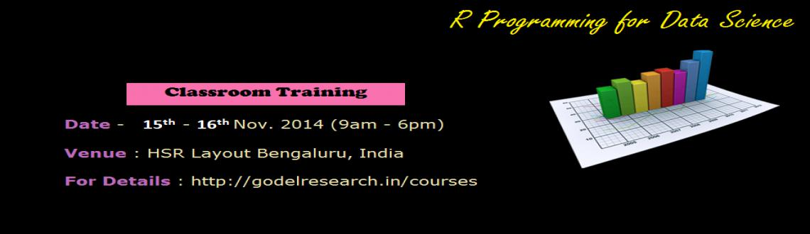 Book Online Tickets for R Programming for Data Science, Bengaluru. This Course is first in the series of our Data Science courses. It\\\'s aimed at providing a strong foundation in R-programming for Data Science enthusiasts. R-Statistics is the most widely used tool in the area of Data Analysis (used extensively in