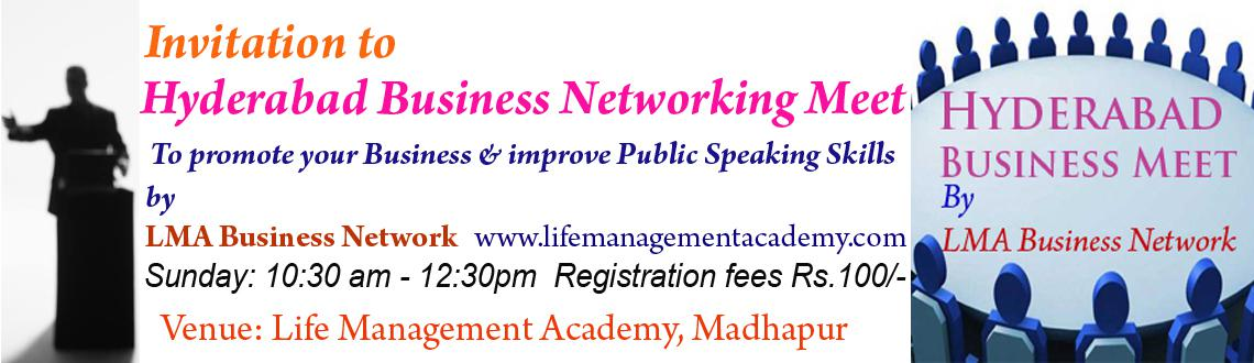 Book Online Tickets for Invitation to  Hyderabad Business Networ, Hyderabad. You are invited to Hyderabad Business Networking Meet to promote your Business