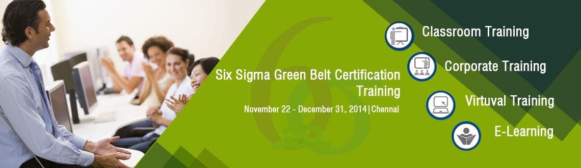 Six Sigma Green Belt Certification Training In Chennai On Nov Dec