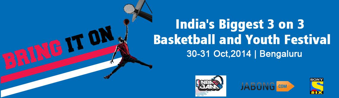 Book Online Tickets for NBA JAM POWERED BY JABONG.COM IN PARTNER, Bengaluru. EVENT FEATURES THE LARGEST 3-ON-3 TOURNANMENT IN PROGRAM'S SECOND YEAR  - Registration Now Open atwww.Jabong.com/nbajam-